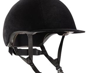 Casco Equitacion Terciopelo Negro