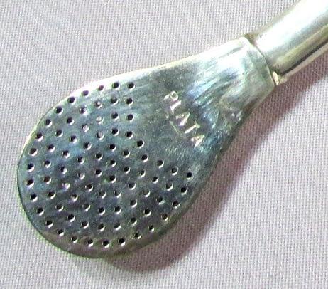 Bombilla-sencilla plata y oro detalle boquilla
